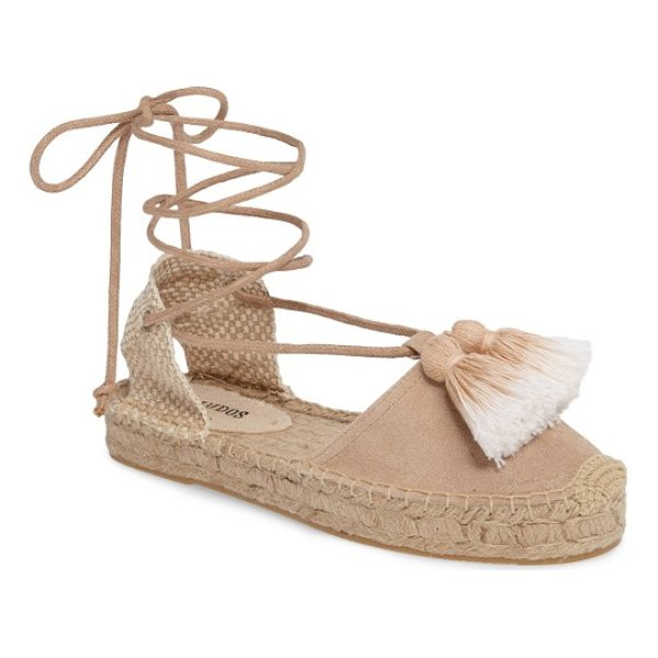 SOLUDOS tassel lace-up espadrille - Ombre tassels at the vamp add to the trend-forward look of...