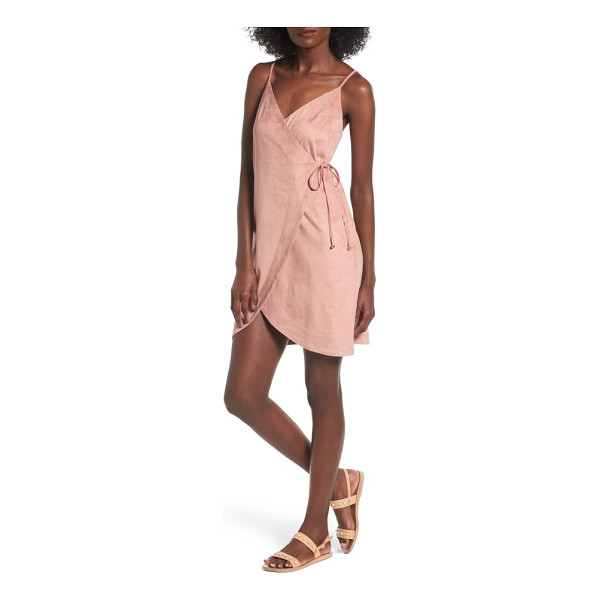 SOMEDAYS LOVIN dance at dust wrap dress - Subtly striped microsuede in the perfect shade of sandy...