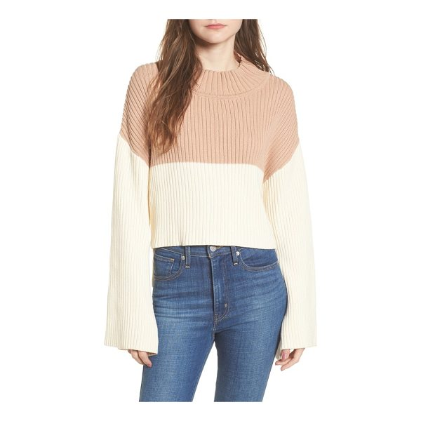 SOMEDAYS LOVIN like a melody colorblock crop sweater - Cropped at the front and styled with swingy bell sleeves,...