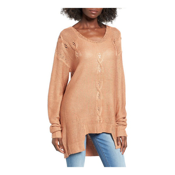 SOMEDAYS LOVIN 'patti' textured knit tunic - Slouchy, drop-shoulder sleeves frame a relaxed-fit pullover...