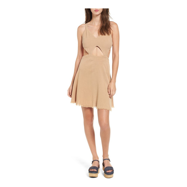 SOMEDAYS LOVIN take me here cutout cotton & linen dress - Styled to show off plenty of skin around the midriff, this...