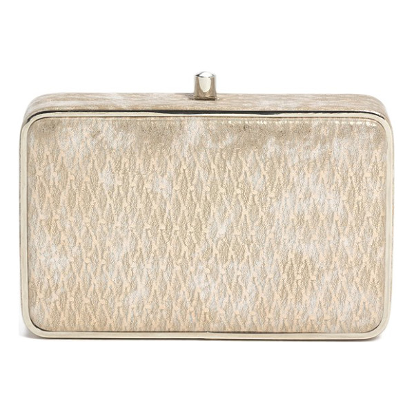 SONDRA ROBERTS Metallic box clutch - A shimmery metallic finish hits all the right notes for an...
