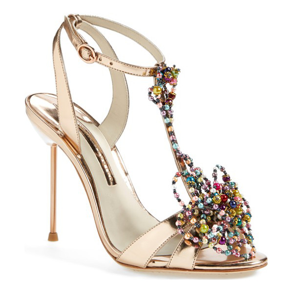 SOPHIA WEBSTER monique beaded t-strap sandal - Tapping into the season's art focus, Sophia Webster gets...
