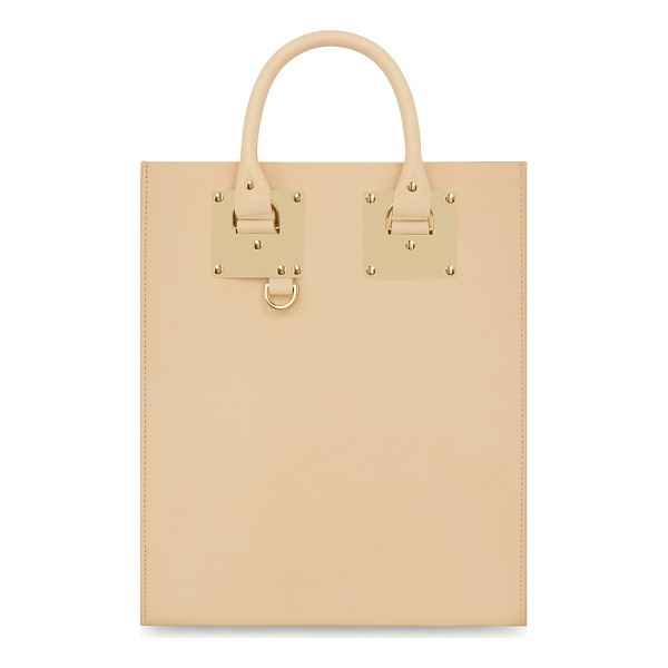 SOPHIE HULME Mini albion tote - Signature goldtone plates echo the clean lines of a...