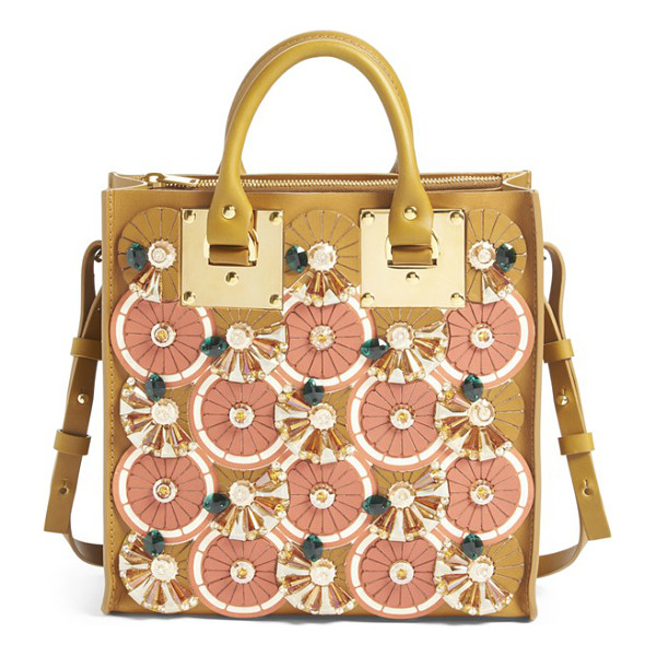 SOPHIE HULME Albion- orange slice crystal embellished square tote - Sophie Hulme's key inspiration for spring-the geometry and...