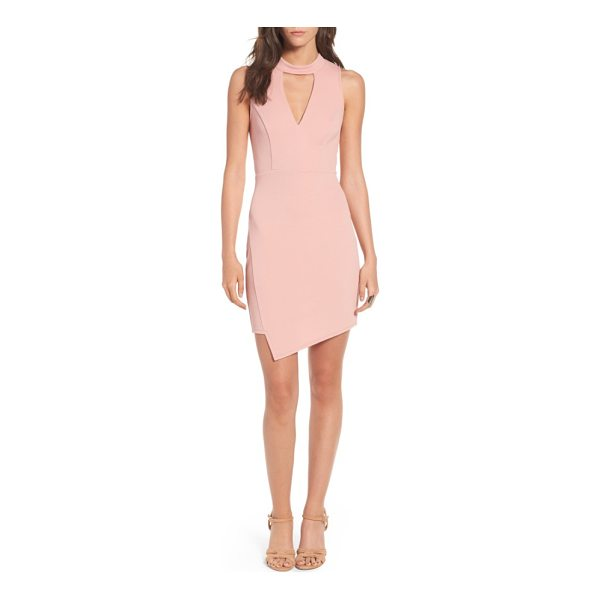 SOPRANO asymmetrical body-con dress - Front and back cutouts and an asymmetrical hem sharply call...