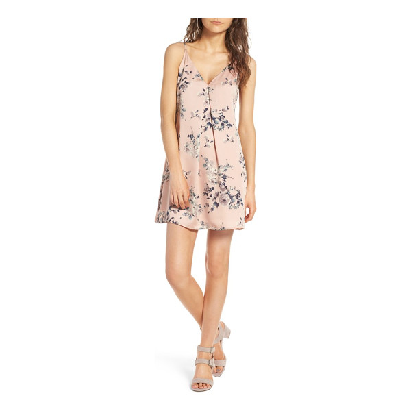 SOPRANO floral print slipdress - Watercolored flowers blossom atop this lustrous little...