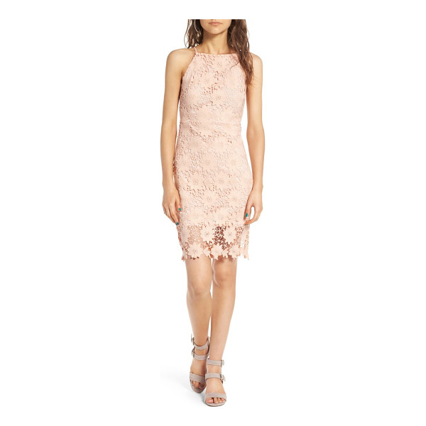 SOPRANO high neck lace body-con dress - A perfect balance of sweetness and sassiness, this...