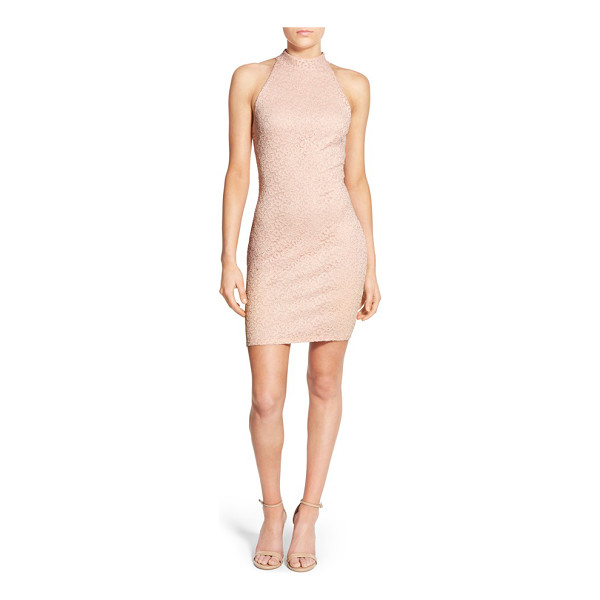 SOPRANO lace body-con dress - A face-framing mock neckline and a slinky, figure-flaunting...