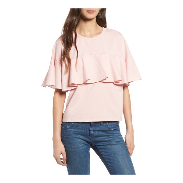 SOPRANO ruffle tee - A dressed-up take on a comfy stretch-cotton tee, this...