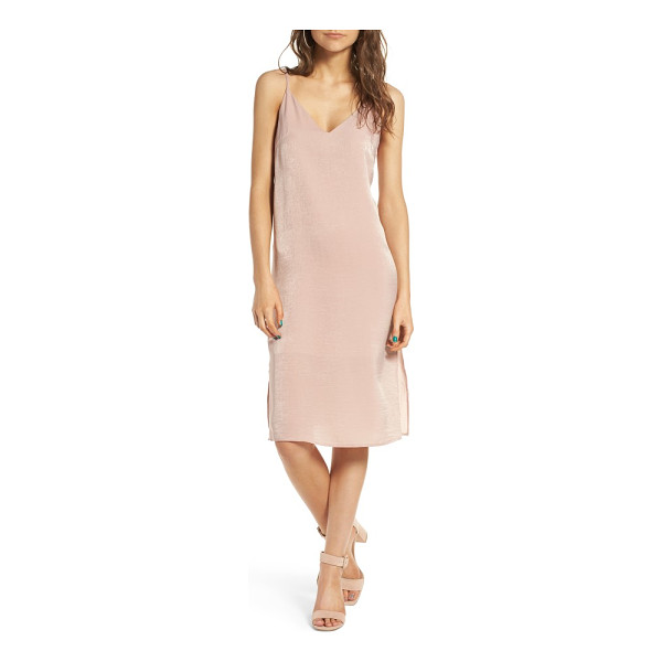 SOPRANO satin slipdress - Slinky satin adds subtle luster to a trend-right slipdress...