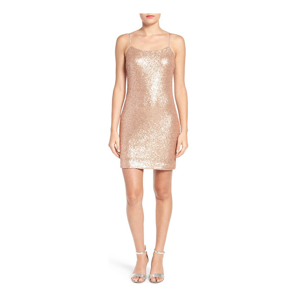 SOPRANO sequin slipdress - Sparkling allover sequins add an otherworldly glow to a...