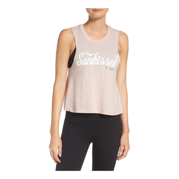 SPIRITUAL GANGSTER sunkissed crop tank - Add a retro twist to your yoga style with a slubbed crop...