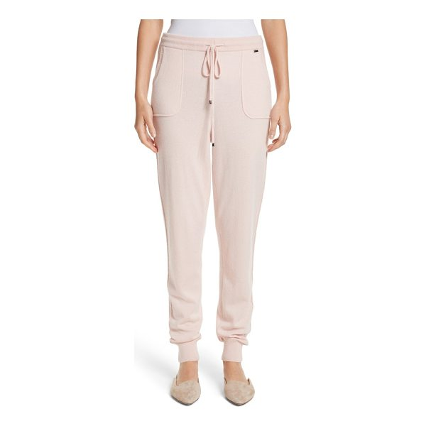 ST. JOHN cashmere jersey knit crop pants - St. John puts the luxe in athluxury with these sporty,...