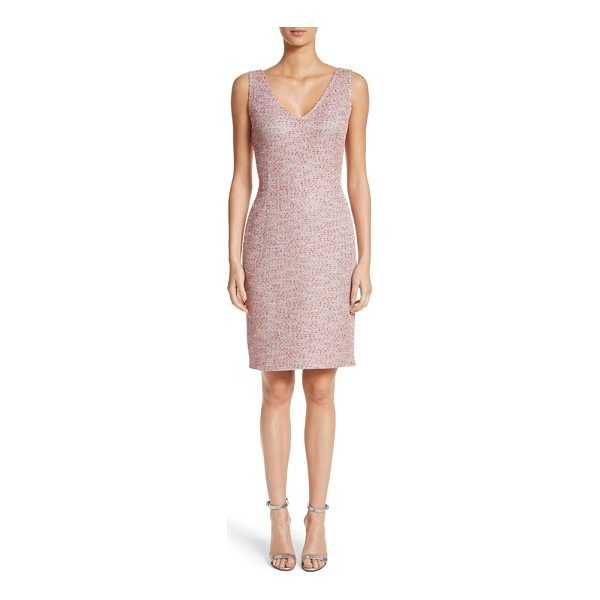 ST. JOHN metallic tweed sheath dress - A modern take on traditional tweed adds subtle sparkle and...