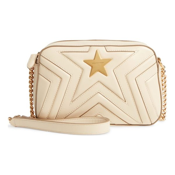 STELLA MCCARTNEY alter nappa faux leather shoulder bag - The neat, chevron-quilted finish, bold goldtone logo star...
