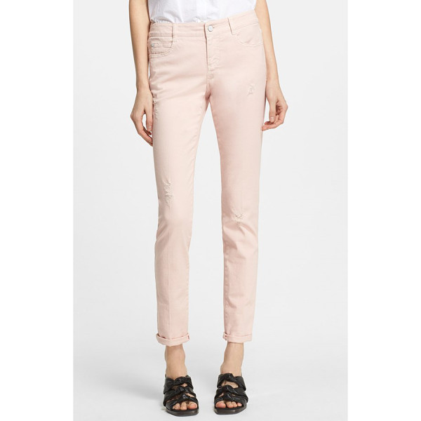 STELLA MCCARTNEY distressed skinny long jeans - Light distressing combined with a pale-pink hue perfect the...