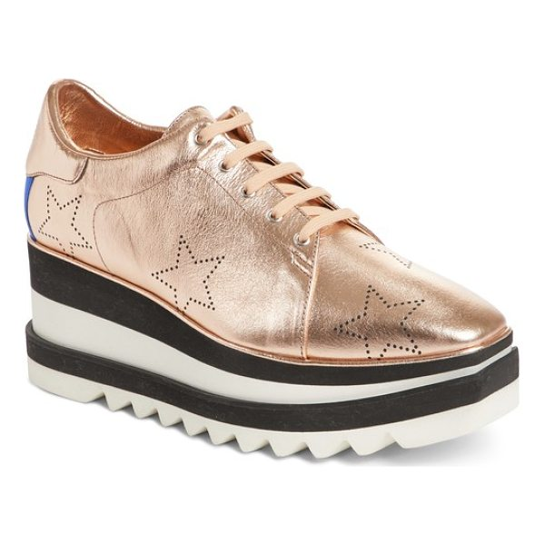 STELLA MCCARTNEY elyse platform sneaker - Perforated stars add to the signature style of a stunning...