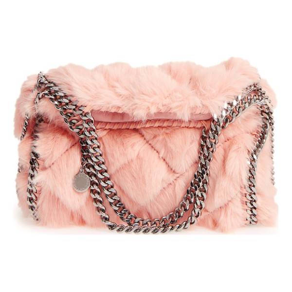 STELLA MCCARTNEY 'mini falabella' quilted faux fur tote - Fresh for fall, this staple handbag silhouette is updated...