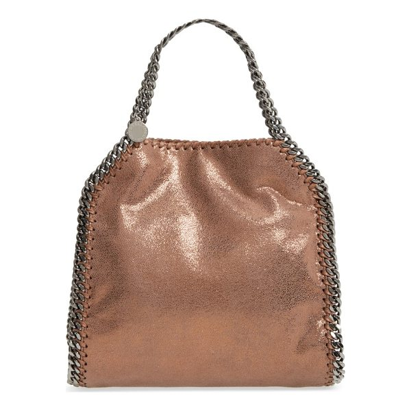 STELLA MCCARTNEY mini falabella shaggy deer metallic faux leather tote - A gorgeous tote done in dazzling metallic faux leather is...