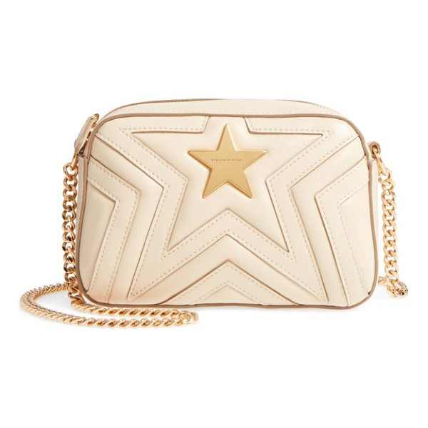 STELLA MCCARTNEY mini star quilted faux leather camera bag - Signature Stella McCartney stars are quilted right into the...