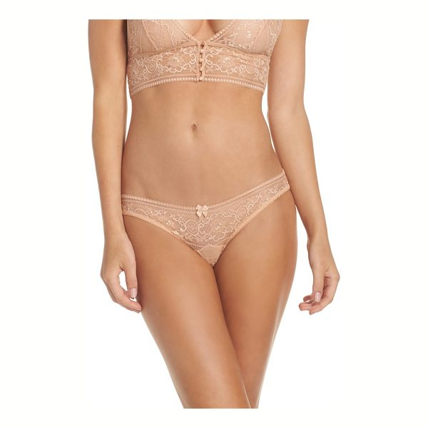 STELLA MCCARTNEY ophelia whistling bikini - Pretty picot trim enriches the sheer lace throughout this...