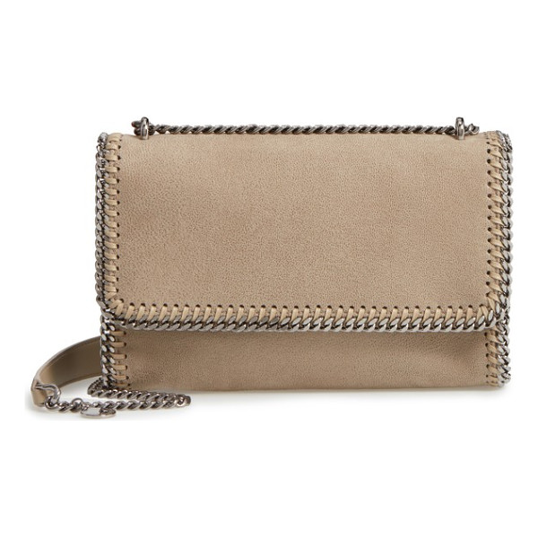 STELLA MCCARTNEY shaggy deer flap shoulder bag - Diamond-cut chains lend distinctive sophistication to a...