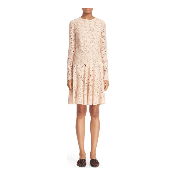STELLA MCCARTNEY zipper detail cotton blend lace dress - Decorative zippers add fresh, unexpected angles to this...