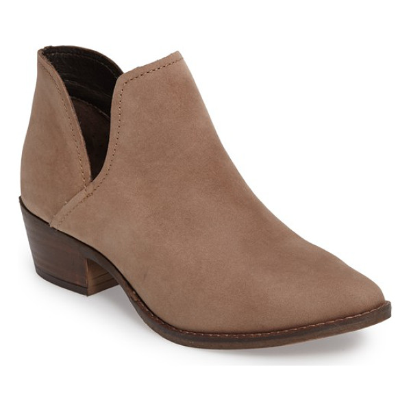 STEVE MADDEN 'austin' bootie - Deep, striking side cutouts style a beautifully burnished...