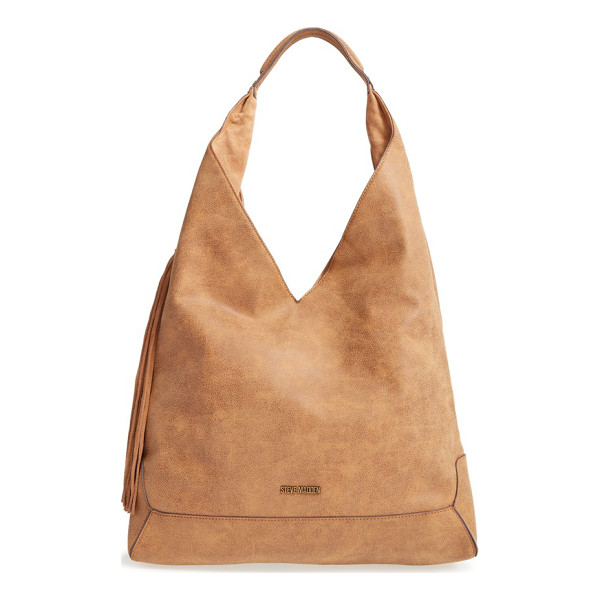 STEVE MADDEN 'bailey' faux leather tote - An angular silhouette amps the modern appeal of a chic tote...