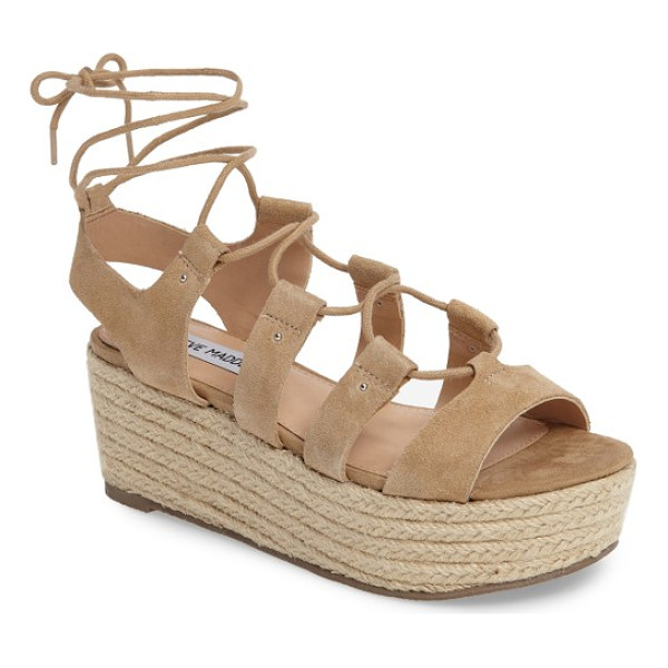 STEVE MADDEN brayla wedge sandal - Take on this summer in trend-worthy style with this...