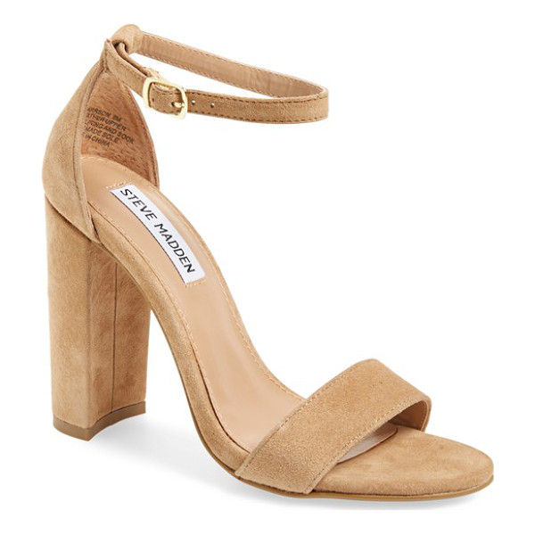 STEVE MADDEN carrson sandal - A minimalist ankle-strap sandal is crafted in lush suede