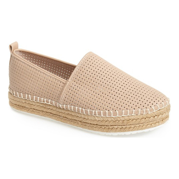 STEVE MADDEN choppur espadrille flat - A perforated finish highlights the classic casual profile...