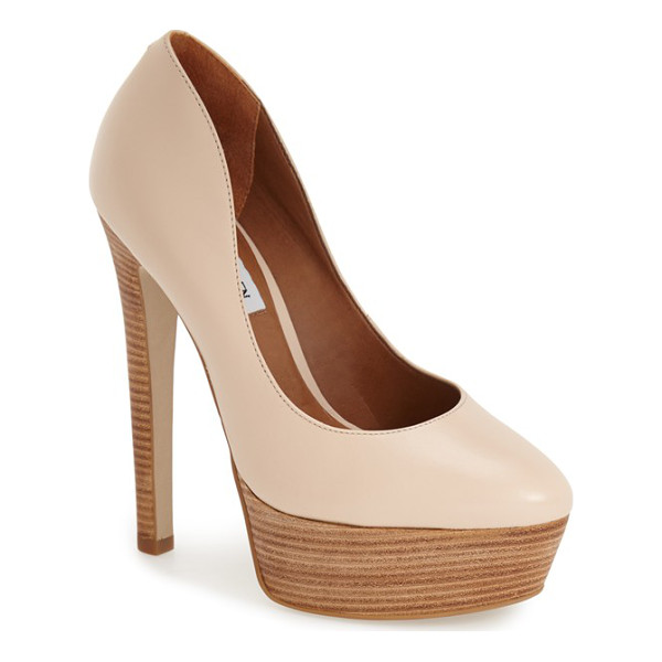 STEVE MADDEN daeva pump - A towering stacked heel and thick platform enhance a chic...