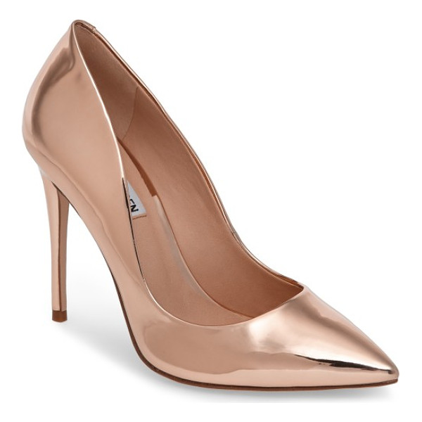 STEVE MADDEN daisie pointy-toe pump - A towering stiletto and a dramatically pointy toe bring...