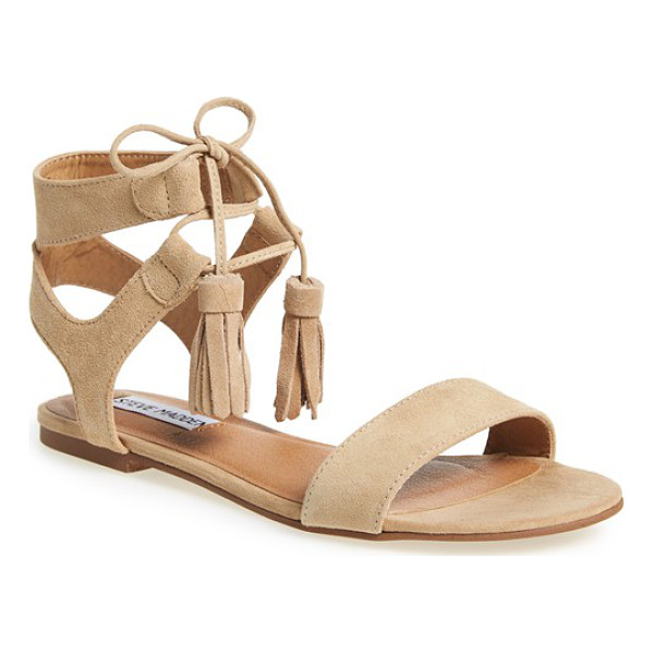 STEVE MADDEN daryyn lace-up sandal - Crafted from soft suede, this pretty sandal balances...