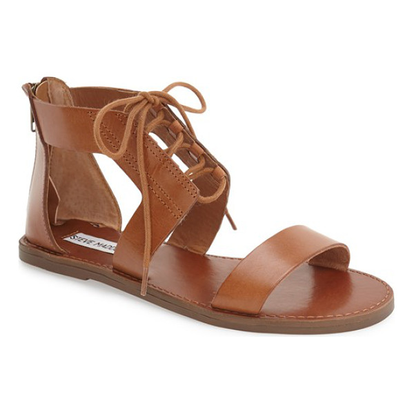 STEVE MADDEN 'delgado' sandal - Sleek leather straps further the contemporary appeal of a...