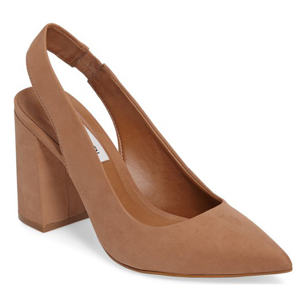 STEVE MADDEN dove pointy toe pump - A wrapped heel lifts a modern pointy-toe slingback made...