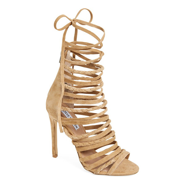 STEVE MADDEN drexel gladiator sandal - Laddered skinny straps-some braided-steal the show on a...