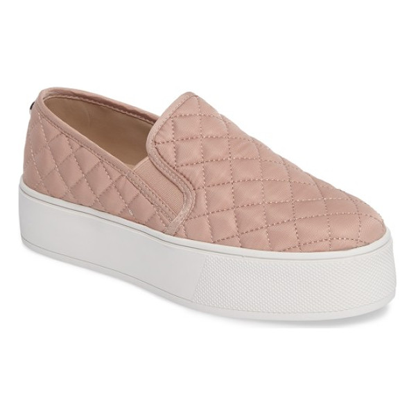 STEVE MADDEN ecentrcq quilted platform sneaker - A sleek quilted upper lives in harmony with a sporty...