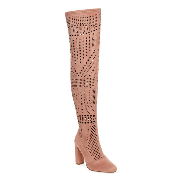 STEVE MADDEN eden over the knee boot - Geometric laser cutouts add a breezy update to a