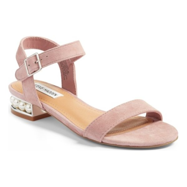 STEVE MADDEN embellished sandal - Tiny imitation pearls shimmer beautifully at the heel of a...
