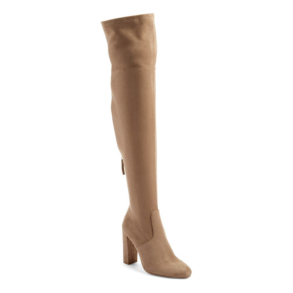 STEVE MADDEN 'emotions' stretch over the knee boot - Sleek, minimal styling defines this over-the-knee boot...