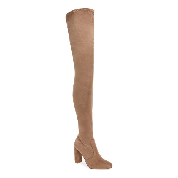 STEVE MADDEN ezra thigh high boot - Long, lean and oh-so chic, this thigh high boot is fierce...