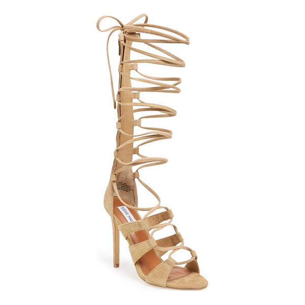 STEVE MADDEN faroh lace-up sandal - Slim lace-up straps intensify the retro, gladiator-inspired...
