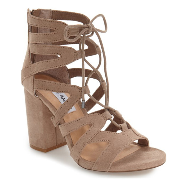 STEVE MADDEN 'gal' strappy lace-up sandal - Sinuous arched straps connect with ghillie-style lacing up...
