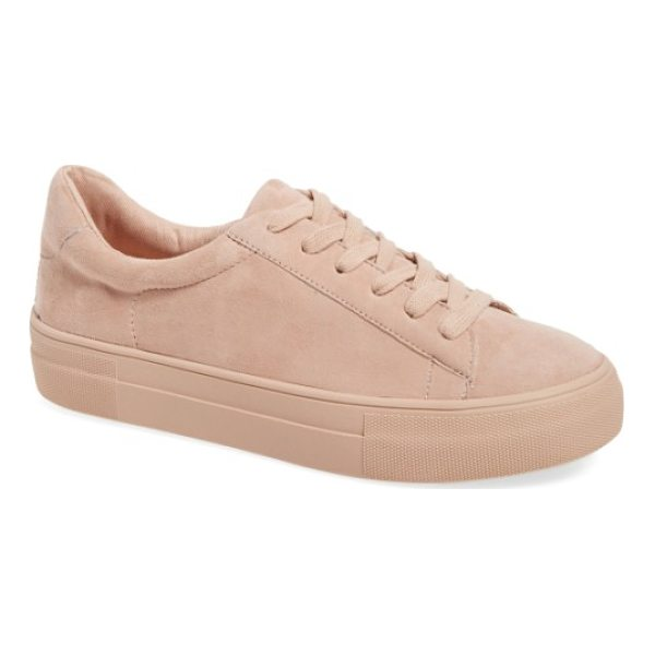 STEVE MADDEN gisela low top sneaker - Soft pastel suede textures an essential sneaker styled with...