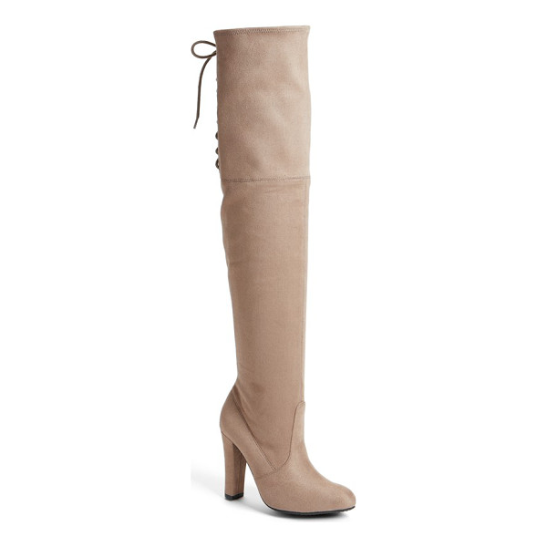 STEVE MADDEN gleemer over the knee boot - Instantly embolden your look with a dramatic over-the-knee...