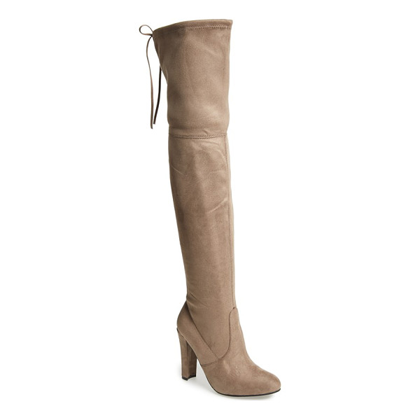 STEVE MADDEN gorgeous over the knee boot - Back lacing brings a sultry vibe to this over-the-knee boot...