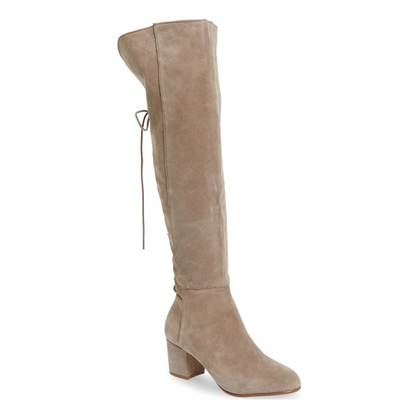 STEVE MADDEN hansil knee high boot - Corset-inspired laces lend Victorian drama to an essential...